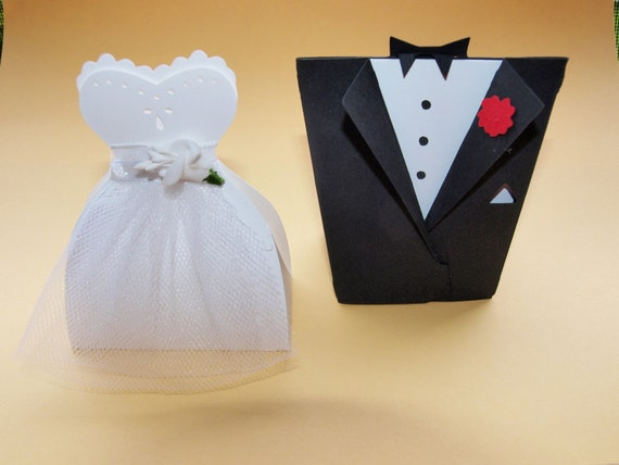 Etsy Wedding Gift For Groom : Items similar to Bride and Groom Wedding Favor Boxes on Etsy