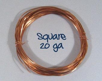 20ga 50ft DS SQUARE Copper Wire