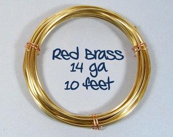 14ga 10ft Red Brass Wire
