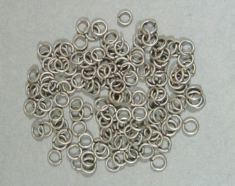 6mm Antique Silver Jump Rings