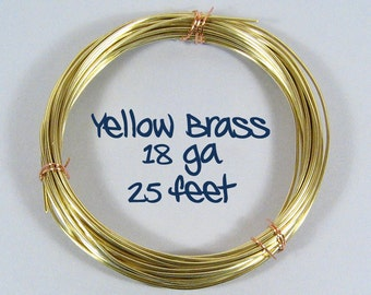 18ga 25ft DS Yellow Brass Wire