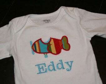 Airplane Bodysuit, Airplane Baby Gift, Personalized Baby,  Plane Bodysuit, Plane Baby Gift, Plane Shower Gift, Plane Baby, Airplane Baby