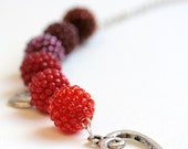 Red to Root Beer Beaded beads Necklace