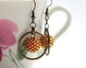 Topaz Orbit Beaded Beads Earrings