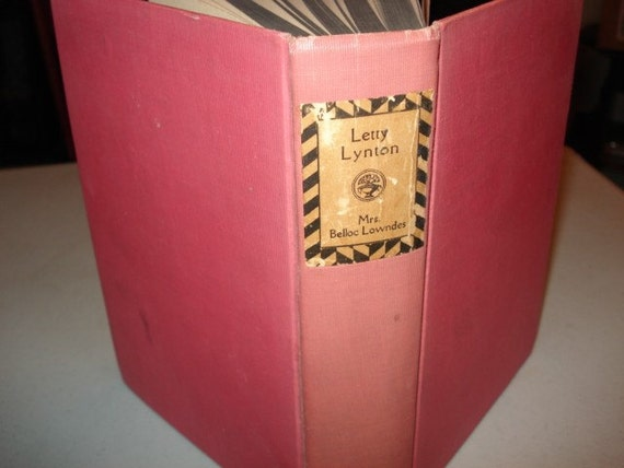 Vintage1930s Book Letty Lynton Hardcover book Authored By Mrs. Belloc Lowndes