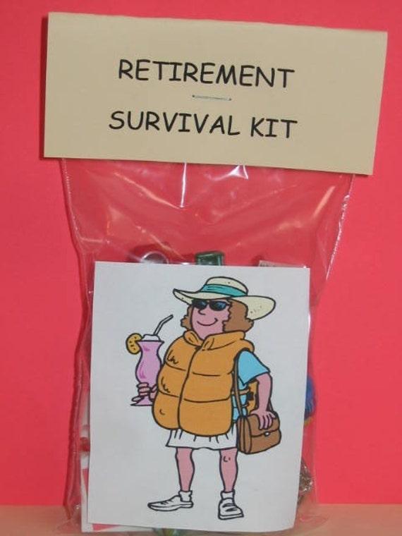 RETIREMENT SURVIVAL KIT LIFE JACKET LADY