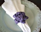 Napkin Rings Set of 4 - Felt Bow / Color of Your Choice