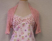 Spring Shrug, Soft Pink Cotton