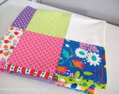 Organic Baby Blanket Hoopla Patchwork and Organic Cotton Flannel Baby Blanket