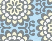 1/2 yard - Wallflower in Sky, Lotus collection by Amy Butler