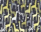 1 yard - Giraffe Love in Grey, Michael Miller Fabrics
