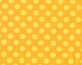 1/2 yard - Ta dot in Mustard, Michael Miller Fabrics