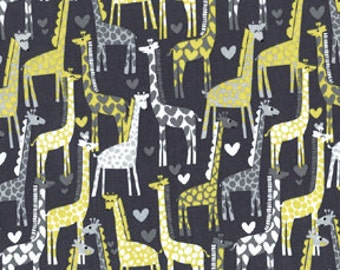1/2 yard - Giraffe Love in Grey, Michael Miller Fabrics