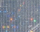 BIG 20 Inch by 10 inch Rhinestone 3mm Dazzling Diamond Self Adhesive Sticker Peel & Stick Sheet Diamante ~Cut w/ Die, Scissors, Paper Cutter