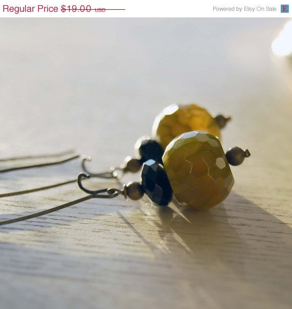 15% Off Holiday Sale Green Lacewing Earrings