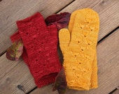Knitting Pattern - Bodhi Mittens with Fingerless Mitt Options