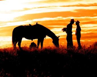 Cowboy Romance Fine Art Photography Print