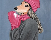 Afghan Hound Dog Greeting Note Card