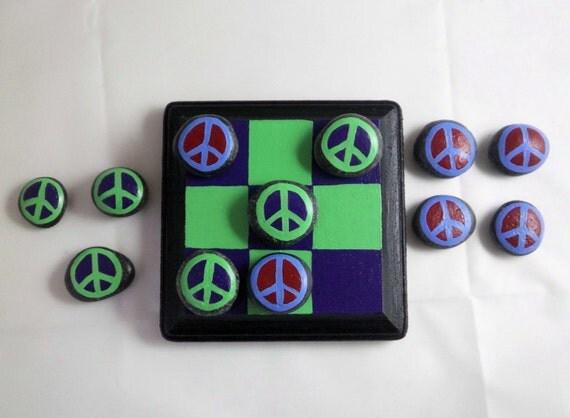 Peace Rock Tic Tac Toe Board Game