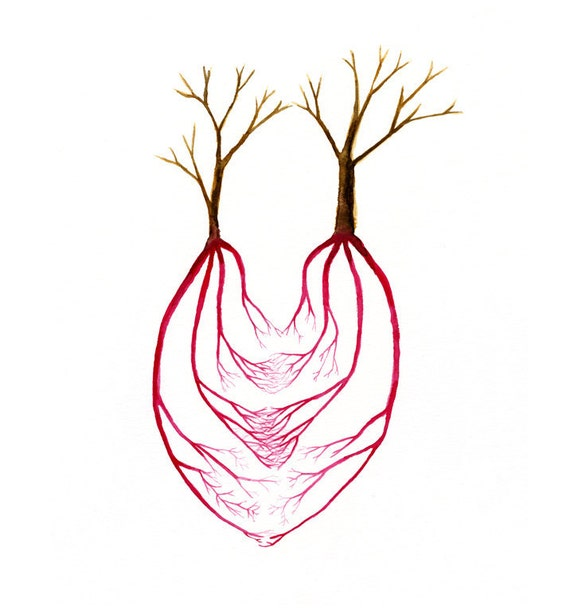 items similar to two trees and a heart art anatomical