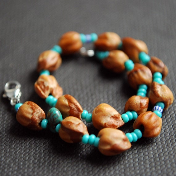 Ghost Beads Cedar Berry Bracelet Native American Tradition