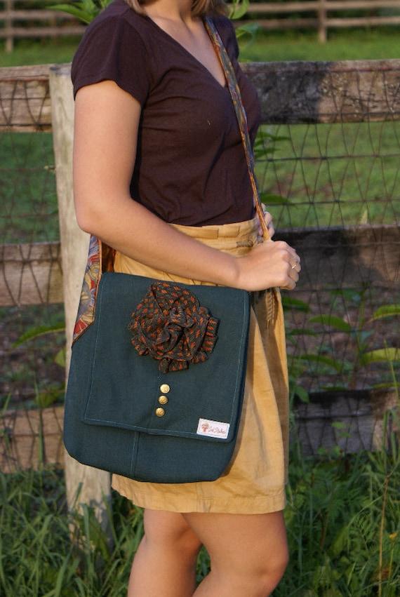 Teale suit messenger handbag