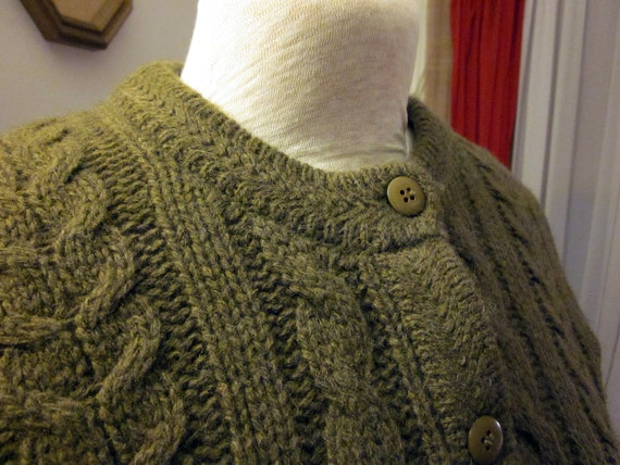 Vintage Moss Green Cardigan by Reference Point