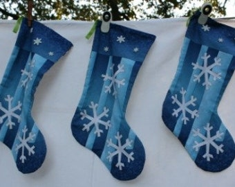 Funky Snowflake Christmas Stocking