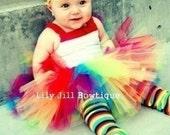 Tutu, Rainbow, Halloween Costume, Free tulle bow, infant, baby, girl, Rainbow Lollipop Costumes, tutus