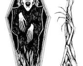 Nosferatu Sketches Original Vampire Drawings