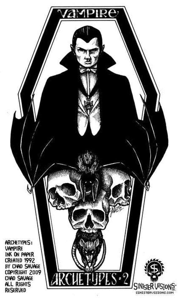 Archetypes - Vampire - Original Vampire Drawing