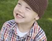 Beanie with brim- pick your size and color