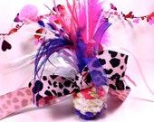 Clearance Sale Catnip Ball Toy for cat nip kitten toy for kittens pink purple iowa art