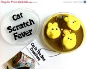 Clearance Sale Cat Scratch Fever Microscope Slide Germ Necklace Petri Dish Yellow Nerd