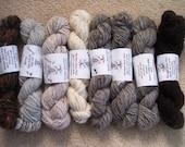 Mixed bag yarn All hand spun.  Browns, creams and earth tones