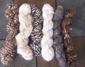 Misc lot of hand spun wool yarn