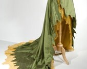 Woodland Fairy Silk Wrap Skirt OOAK