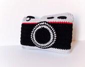 Crochet Camera Pillow