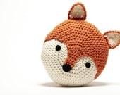 Crochet Fox Pillow