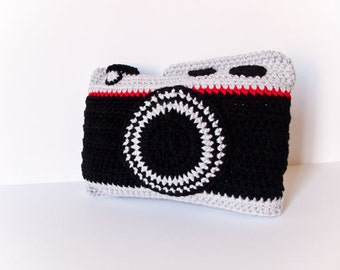 Crochet Camera Pillow