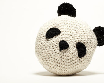 Crochet Panda Pillow