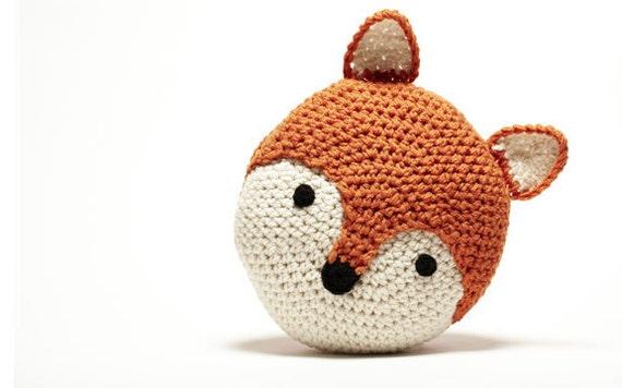 Crochet-oreiller Fox par PeanutButterDynamite sur Etsy