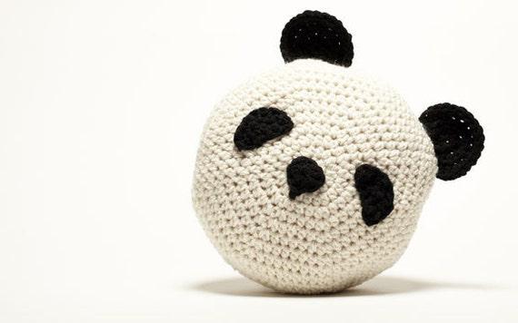 Crochet Panda Pillow