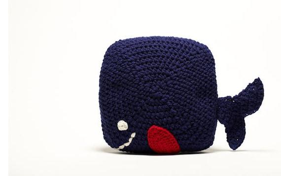 Crochet Whale Pillow