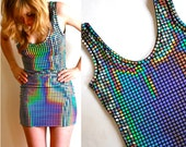 Disco Ball Mini Dress xs s m