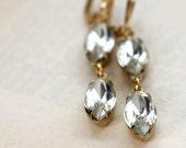 Handmade Vintage Jewel Diamond Earrings. Sparkle