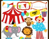Circus Clipart Set INSTANT DOWNLOAD