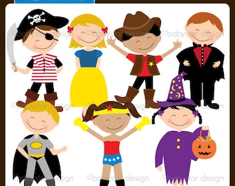Costume Party Clipart INSTANT DOWNLOAD