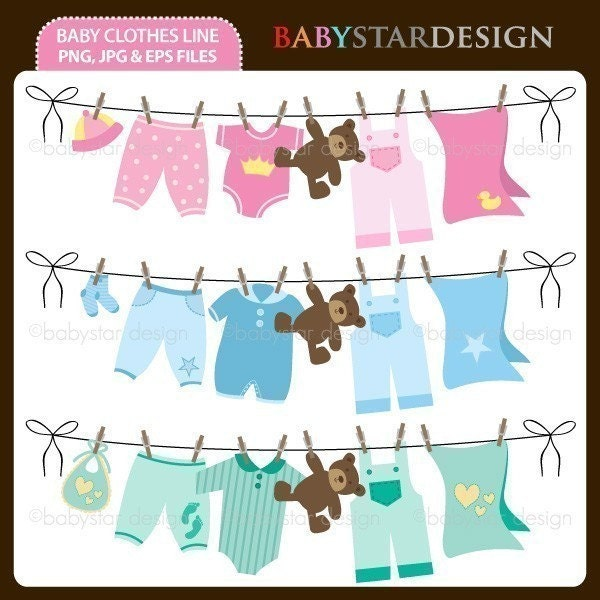 Clothesline Decorations - One of the most adorable ideas is to string a clothesline across the room where the shower is being held and then hang up come cute little baby clothing like booties, onesies, sleepwear, blankets, diapers, etc. You can give the clothesline full of clothes .