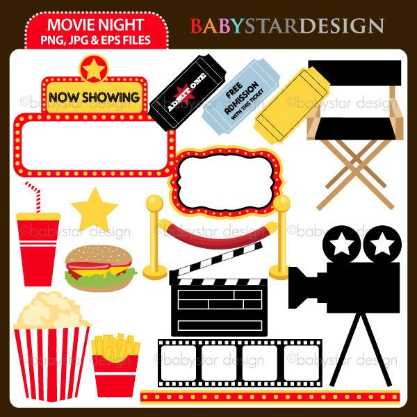 clipart of movie night - photo #36